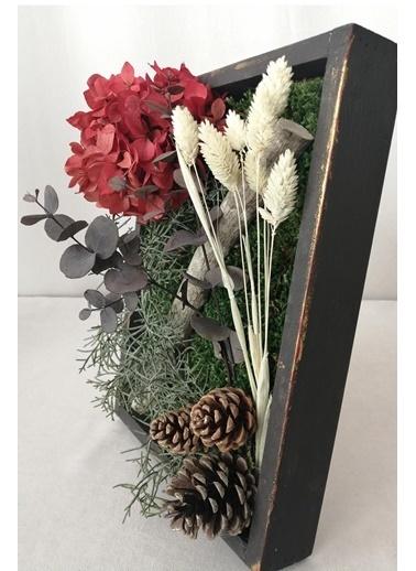 Kuru Çiçek Deposu Küçük Canlı Yosun Tablo Kuş Otlu (23 cm*30 cm) Renkli